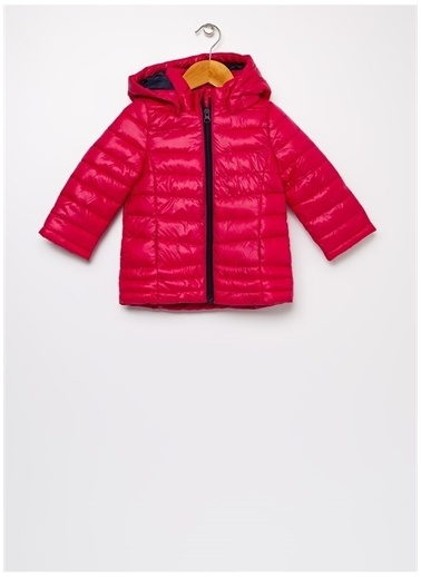 Name It Name It NMFMOVE %100 Polyester Düz Kız Çocuk Kapüşonlu Şişme Mont Pembe